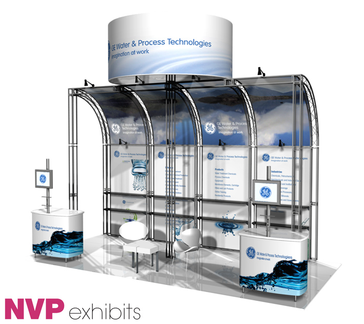 Exhibition Stand Water Features : — exhibit exhibition design hire nvp
