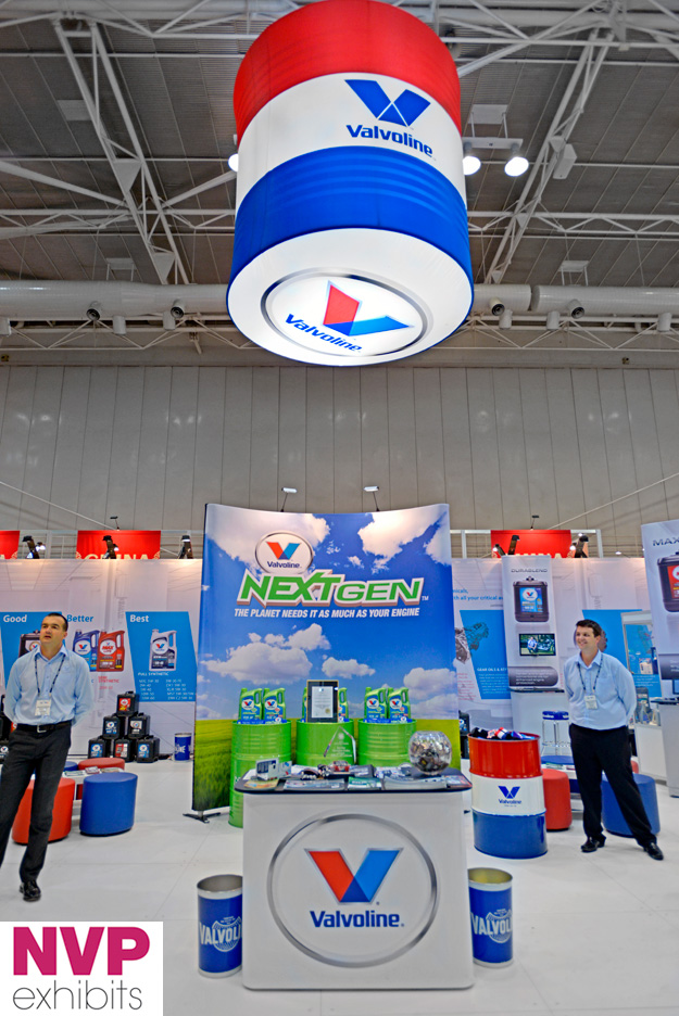 Portable exhibition stands - Valvoline