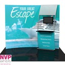 tension fabric display stands for trade shows by NVP Exhibits