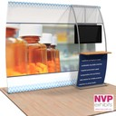 NVP Exhibit 7 - Portable display stand with TV and counter integration