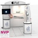 Portable and adaptable custom exhibition stand.