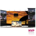 Corner trade show stands by NVP Exhibits