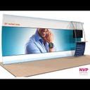 NVP Exhibit 17 - Adaptable, portable display stand with TV and counter integration by NVP Exhibits