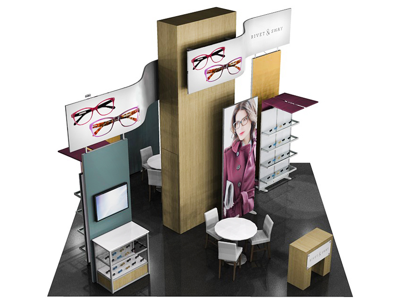 Custom Exhibition Stands ECO-4055