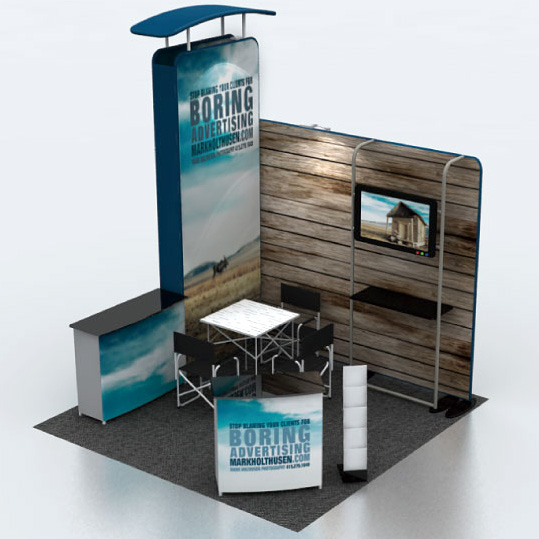 Portable Exhibition Display : Portable display stand