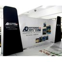 Portable display stands for trade shows and exhibitions