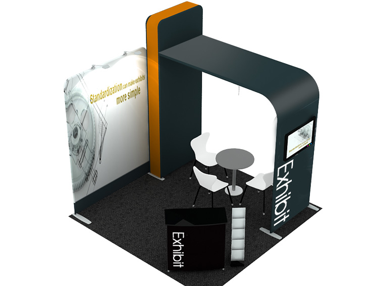 Portable Exhibition Banners : Portable display stand