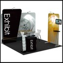 Portable exhibition stand with 3D graphics