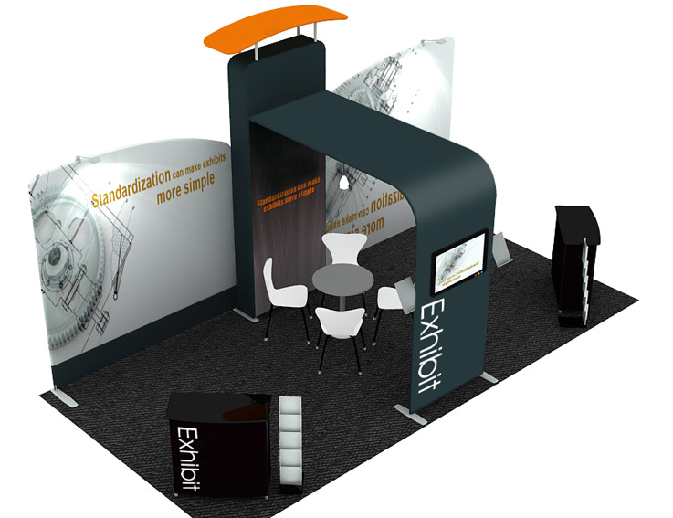 Simple Exhibition Stand Price : Portable display stand