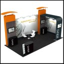 adaptable portable display stand for trade shows