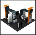 island exhibition stand portable design
