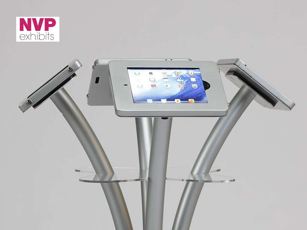 iPad Floor Stand with Four Secure Holders