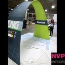 Tension fabric displays and Island stands