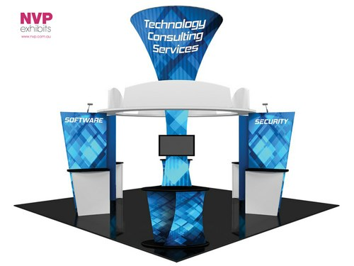 Exhibition Stand Lighting Questions : Island display stands kit