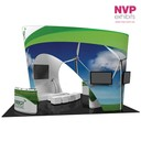 Island Display Stands and tension Fabric displays by NVP Exhibits - Sydney, Melbourne and Brisbane