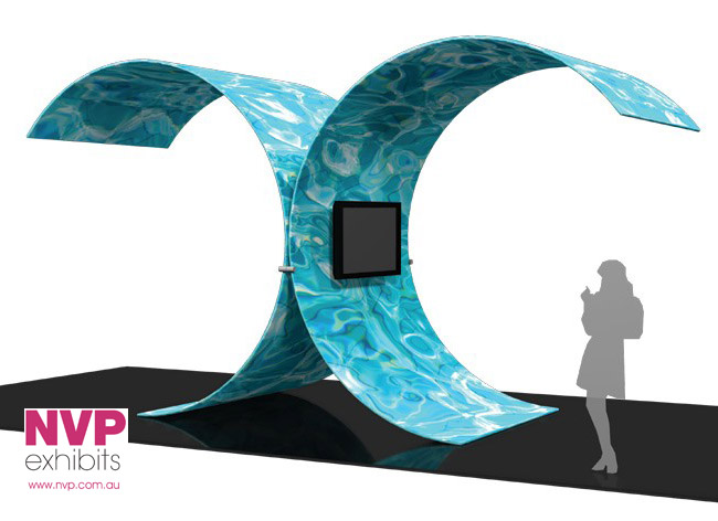 Island Display Stands - Wave Room