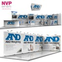 Adaptable island stands by NVP Exhibits