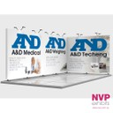 Island stand reconfigured to 6m by 3m stand by NVP Exhibits
