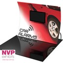 3m by 3m Tension fabric displays stand with TV integrated
