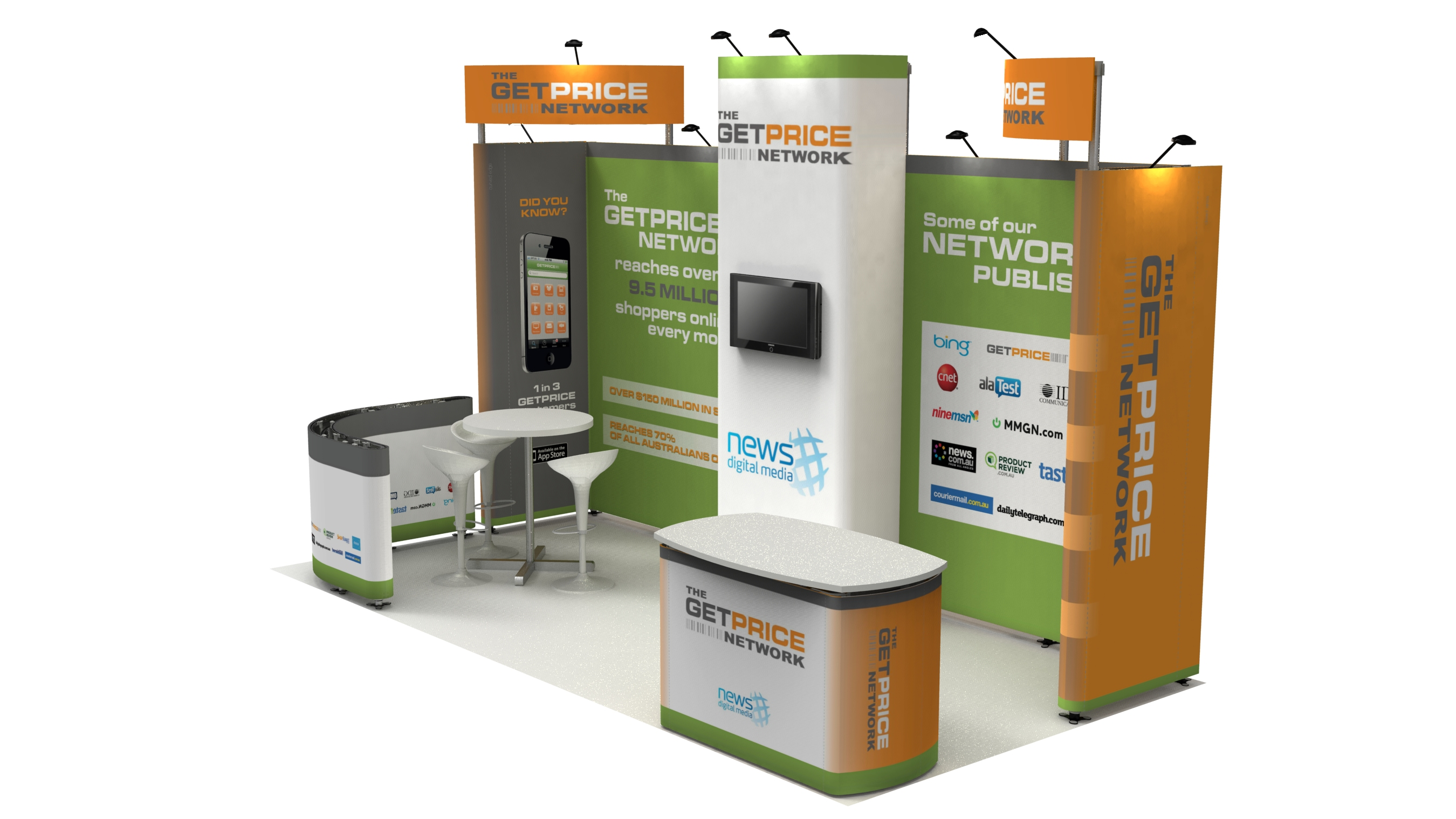 Custom Modular Exhibition Stands : Modular exhibition stands nvp