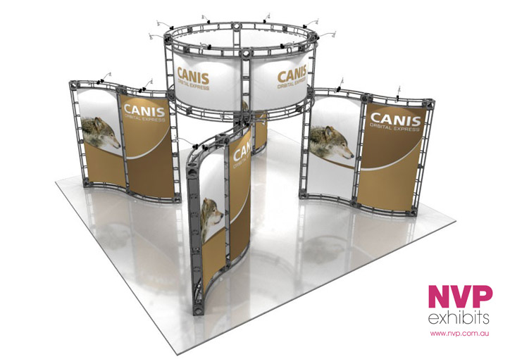 Modular exhibition stands Truss System