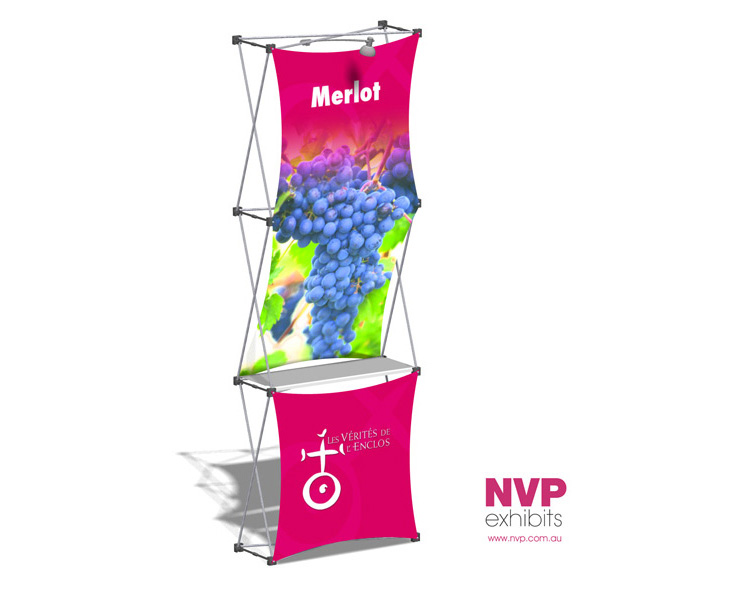 Xpressions SNAP™ 1x3 D Pop Up Display Stand