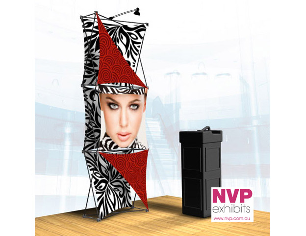 Xpressions SNAP™ 1x3 O Pop Up Display Stand