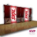 Pop up stands with LED backlit