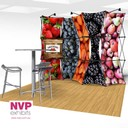 stretched fabric pop up display stand available Australia wide