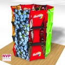 Island exhibition stand can be pop up displays