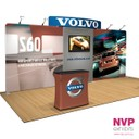 Portable case to counter for portable trade show displays