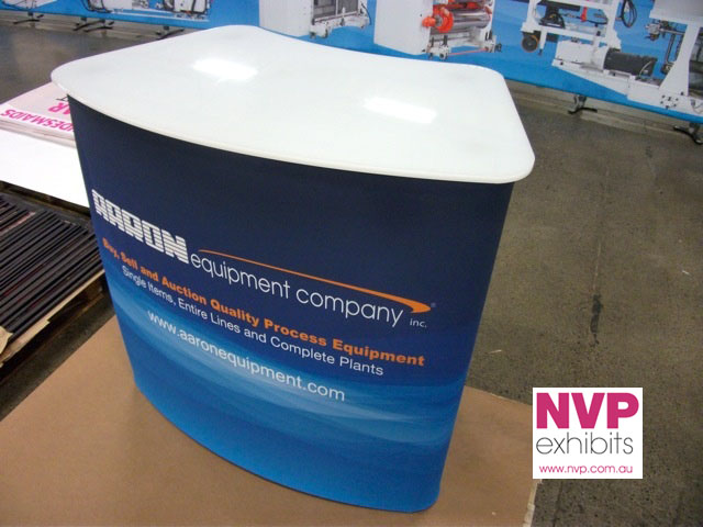 Curved Portable Counter