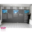portable trade show displays with mounted TV