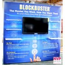 Portable towers and media wall with mounted TV